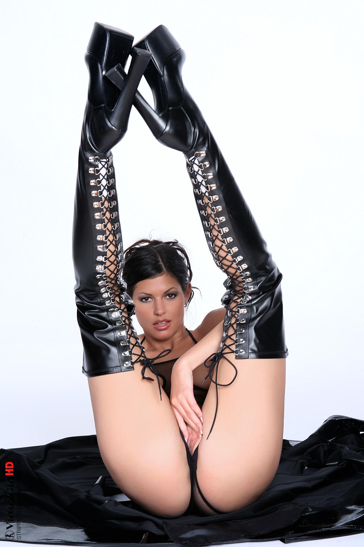 girls stripping down