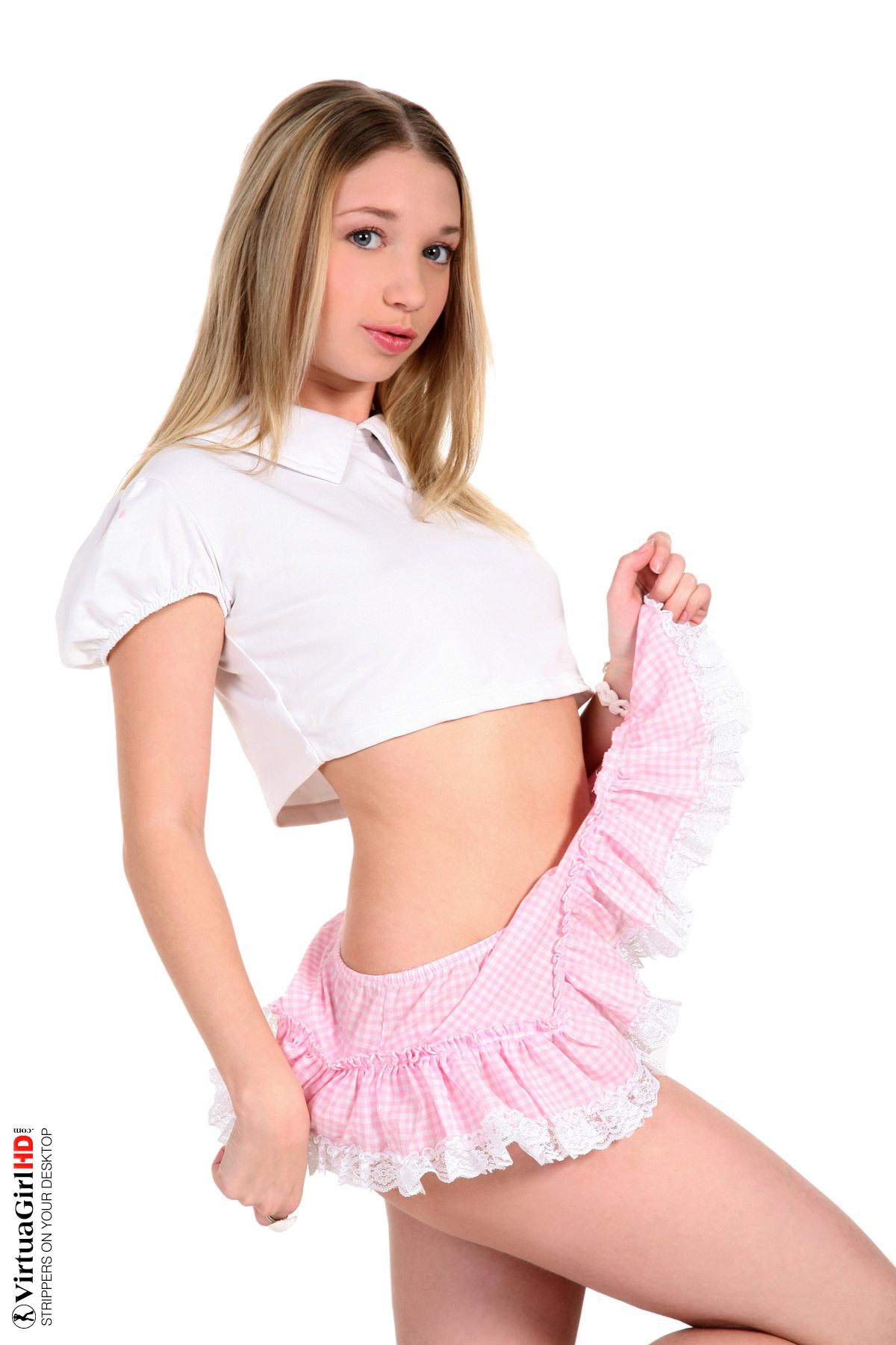 teenage girls in bikinis stripping