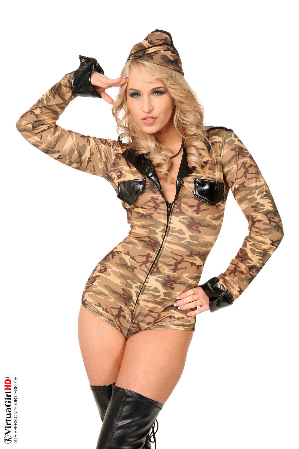 desktop stripper woman