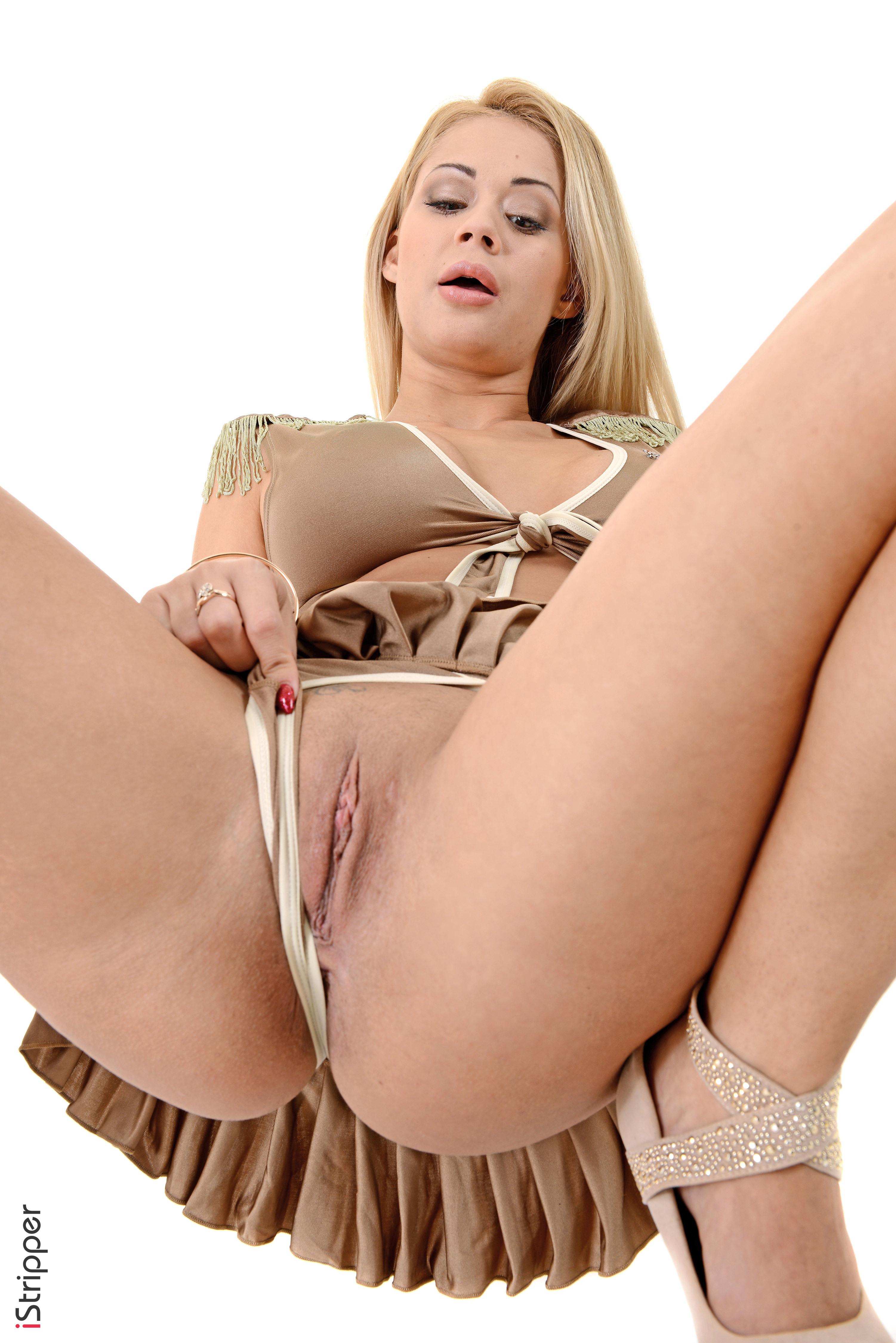 desktop stripper sharka blue super tight petite blonde
